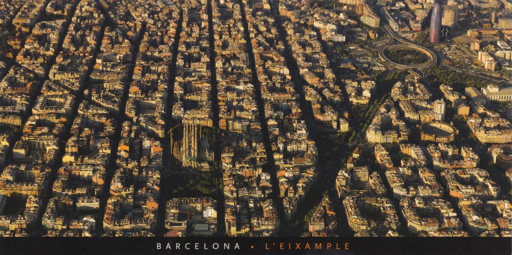 Il distretto di Ensanche (o Eixample) di Barcellona.