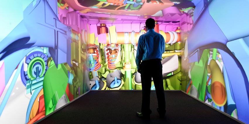 Un esempio di C.A.V.E. (computer-assisted virtual environment).