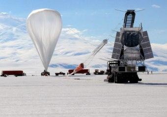 Esperimenti con palloni stratosferici in Norvegia.