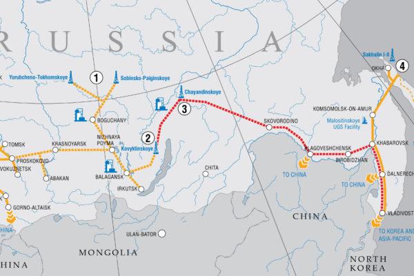 Gasdotti esistenti, in costruzione e progettati in Russia (fonte: Gazprom).